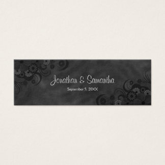 Black Chalkboard Floral Gothic Wedding Favor Tags