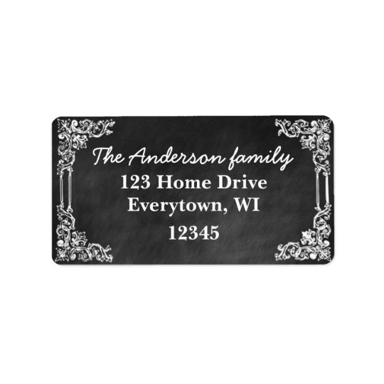 Black Chalkboard frame customise address label