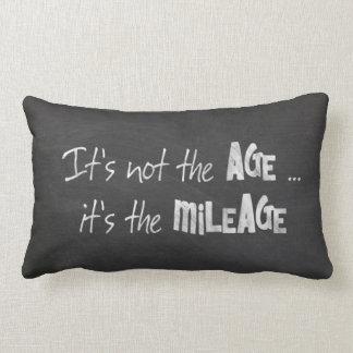 Black chalkboard humor about age lumbar cushion