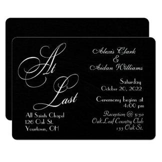 black chalkboard wedding invite