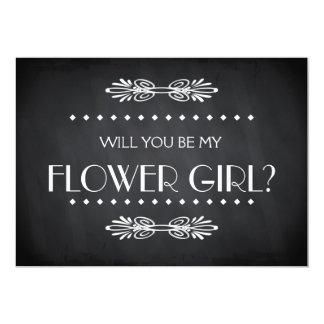 Black ChalkBoard Will you be my Flowergirl Card