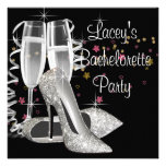 Black Champagne High Heels Bachelorette Party