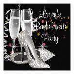 Black Champagne High Heels Bachelorette Party
