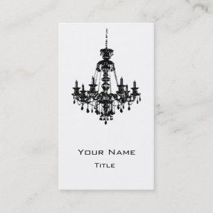 Black chandelier business cards zazzle uk black chandelier business card 2 reheart Gallery