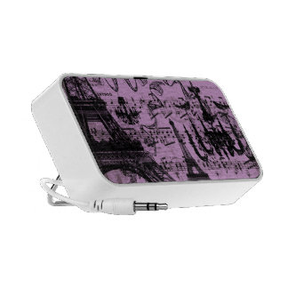 Black Chandeliers Eiffel Tower Any Color Luv Birds Portable Speaker