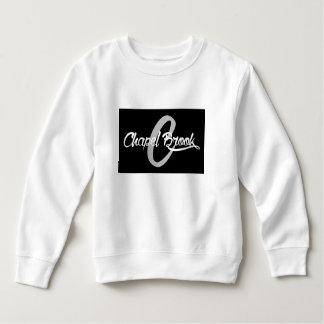 black chapel brook logo on kids sweat shirt