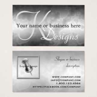 Black Charcoal Business Cards