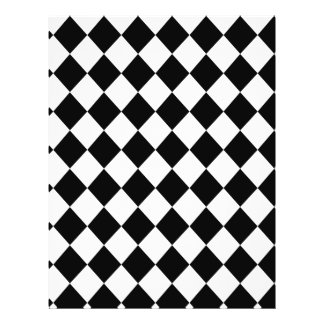 Black Checkered Mod Racing Pattern 21.5 Cm X 28 Cm Flyer
