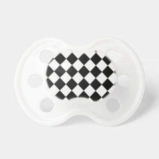 Black Checkered Mod Racing Pattern Pacifiers