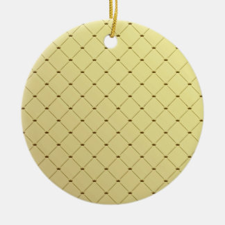Black checkered pattern on yellow texture christmas tree ornaments