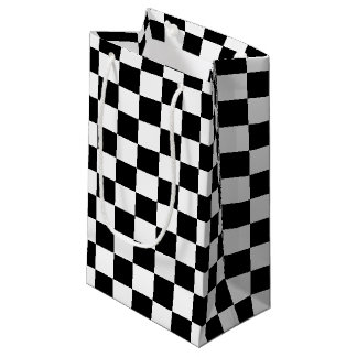 Black Checkered Small Gift Bag