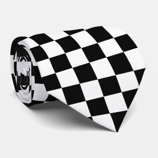 Black Checkered Tie