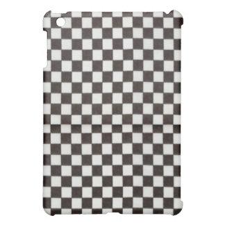Black Checks Hard Shell iPad Case