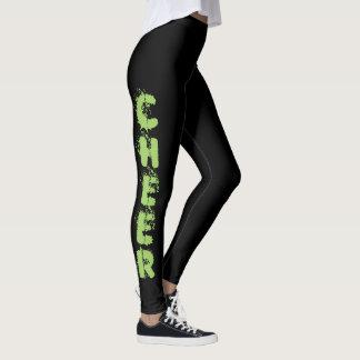 Black Cheerleader design pattern leggings