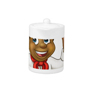 Black Chef Cartoon Character Mascot