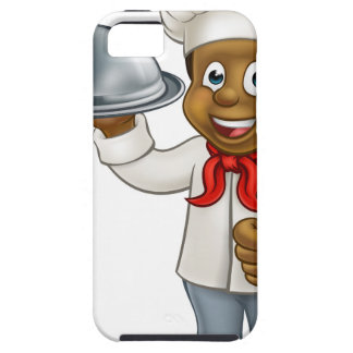 Black Chef Cartoon Character with Platter Tough iPhone 5 Case