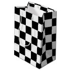 Black Chequered Medium Gift Bag