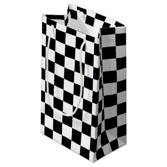 Black Chequered Small Gift Bag