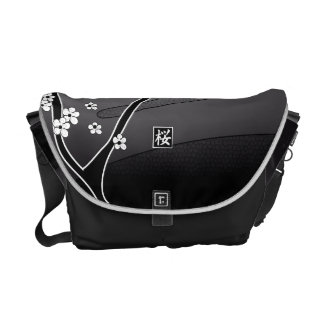 Black Cherry Blossom Tree Commuter Bag