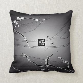 Black Cherry Blossom Tree Cushion
