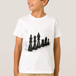 Black Chess Figure Pieces Perspective T-Shirt