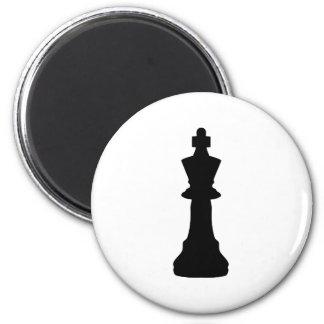 Black Chess king 6 Cm Round Magnet