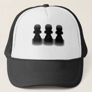 Black chess pawns - hat