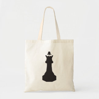 Black Chess Piece Tote Bag