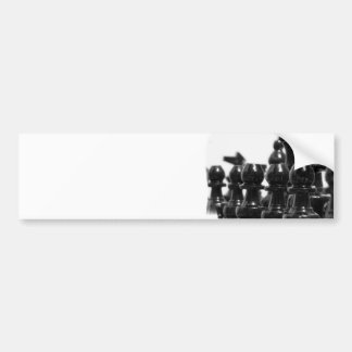 Black Chess Pieces Bumper Sticker