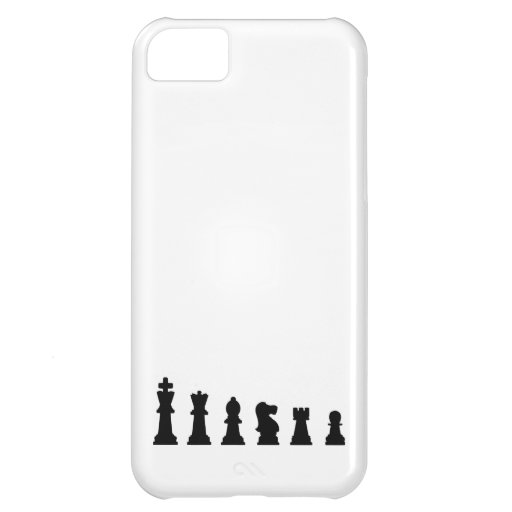 Black chess pieces on white iPhone 5C covers