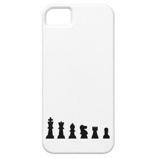 Black chess pieces on white iPhone 5 cover