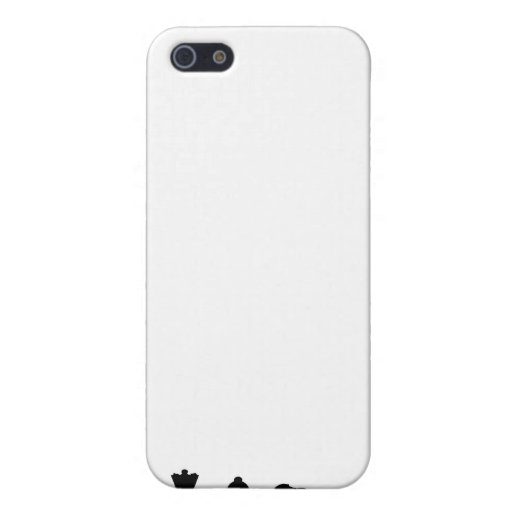 Black chess pieces on white cover for iPhone 5