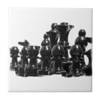 Black Chess Pieces Tile