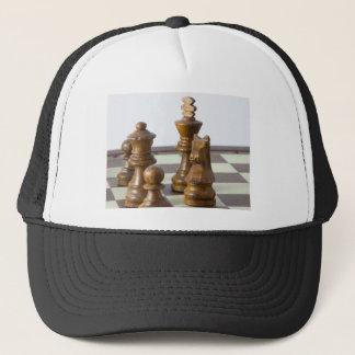 Black chess pieces trucker hat