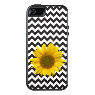 Black Chevron and Sunflower Otterbox OtterBox iPhone 5/5s/SE Case
