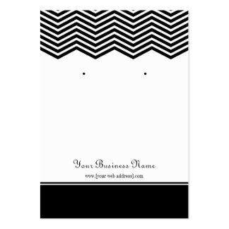 Black Chevron Custom Earring Display Card Pack Of Chubby Business Cards