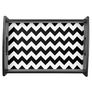 black chevron stripes serving tray