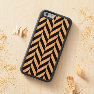 Black Chevron zig zag on wood iPhone Case