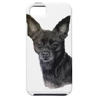 Black Chihuahua original artwork by Carol Zeock iPhone 5 Covers
