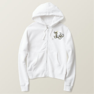 Black Chinese Dragon Embroidered Hooded Sweatshirts