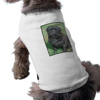 Black Chinese Pug Sleeveless Dog Shirt