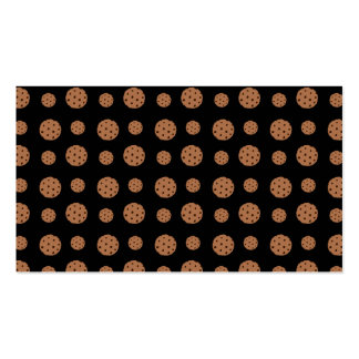 Black chocolate chip cookies pattern business card templates