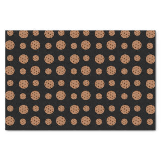 Black chocolate chip cookies pattern tissue paper