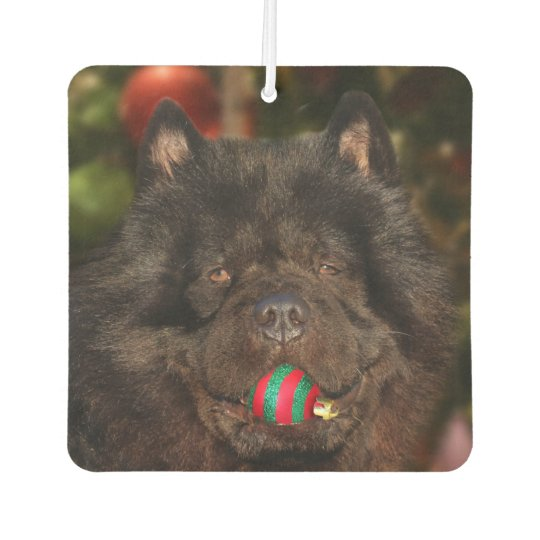 Black Chow Christmas Car Air Freshener