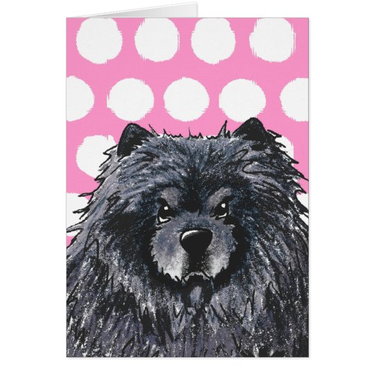 Black Chow Greeting Cards