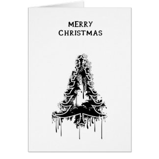 Black Christmas v5 Greeting Card