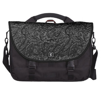 Black chrome computer bag