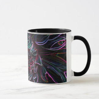 Black Chrysanthemum Mug
