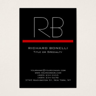 Black chubby modern background business card