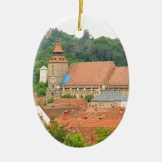 Black church in Brasov, Romania Christmas Ornament